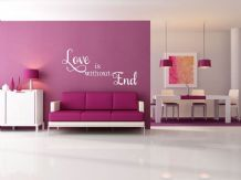Love is without End, wall art sticker, quote, vinyl transfer.